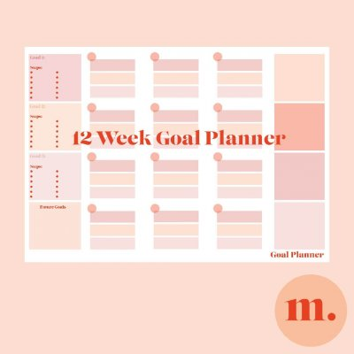 FB goal planner Plaque